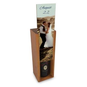 Store your wine or liquors in a counter box with personalized face