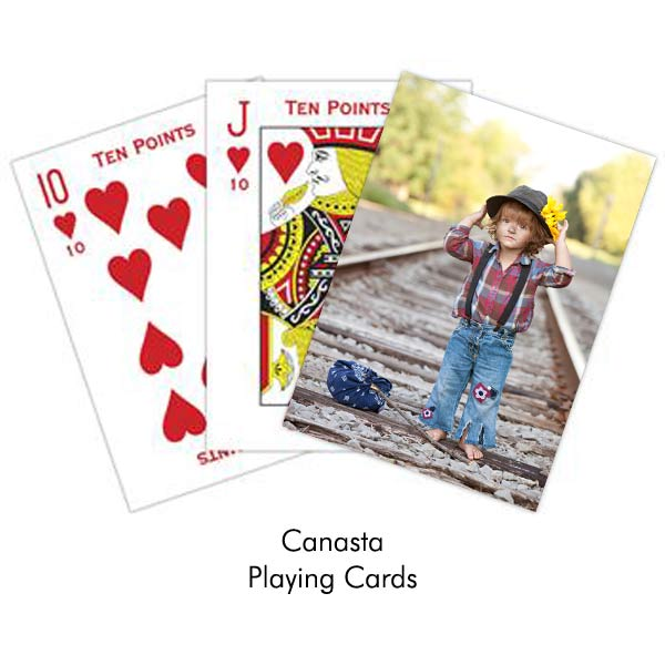 Using your own photo you can create your own deck of canasta playing cards with Ritzpix
