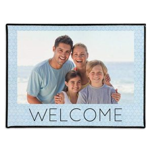 Welcome mats personalized with photos and text make a great addition to your home
