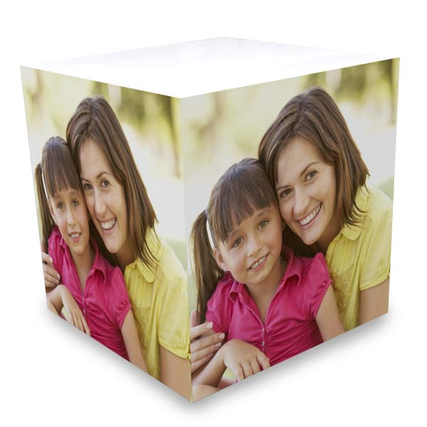 Add color to your desk with a sticky note photo cube great for all
