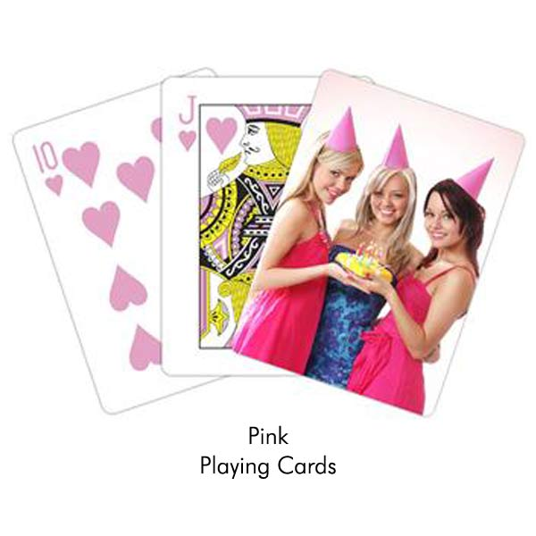 Create custom pink playing cards for a great gift or party favor