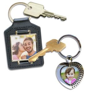 RitzPix offers a wide assortment of key chains and key rings to choose from for your photos