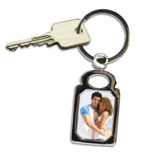 Add your own photo and create a beautiful rectangle picture key chain