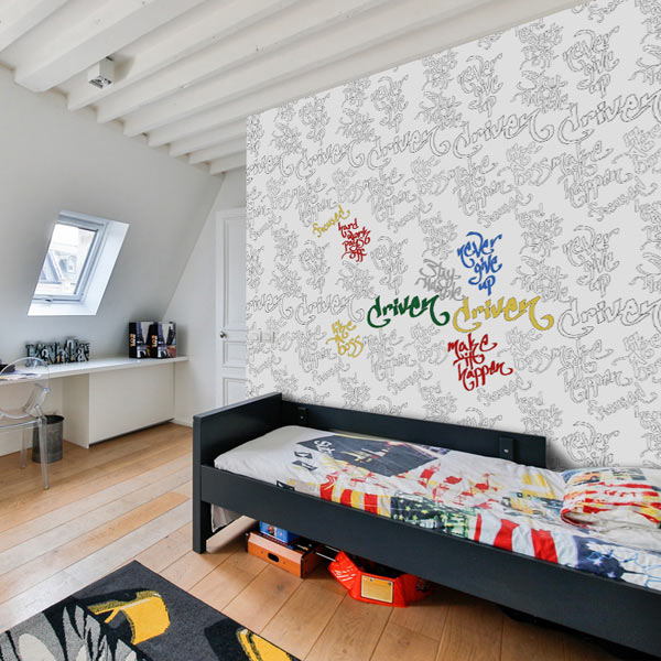 Decorate your child's bedroom and let them color their walls with coloring wallpaper