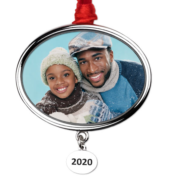 Current year engraving on your photo ornament makes for the perfect holiday gift