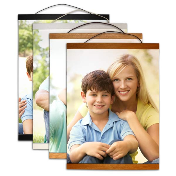 Hanging wood plank photo canvas available in 4 different finishes for your style