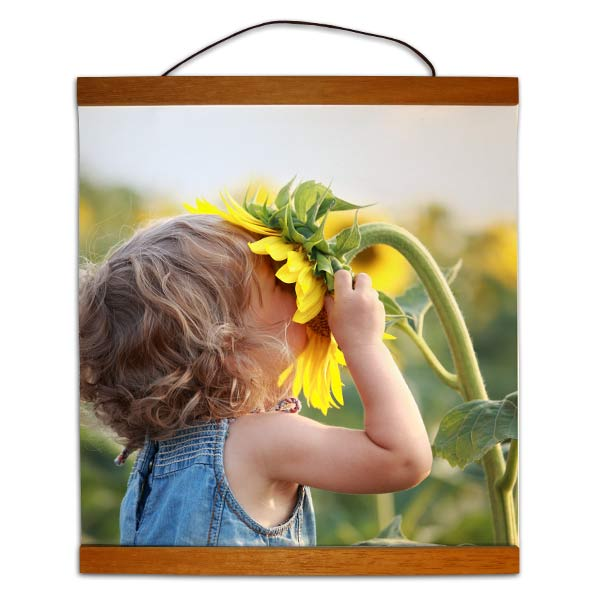 Turn your photo into a unique work of art with hanging photo canvas