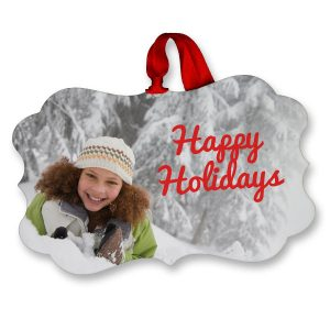 Turn your favorite photo into a beautiful ornament with glossy finish for the holidays