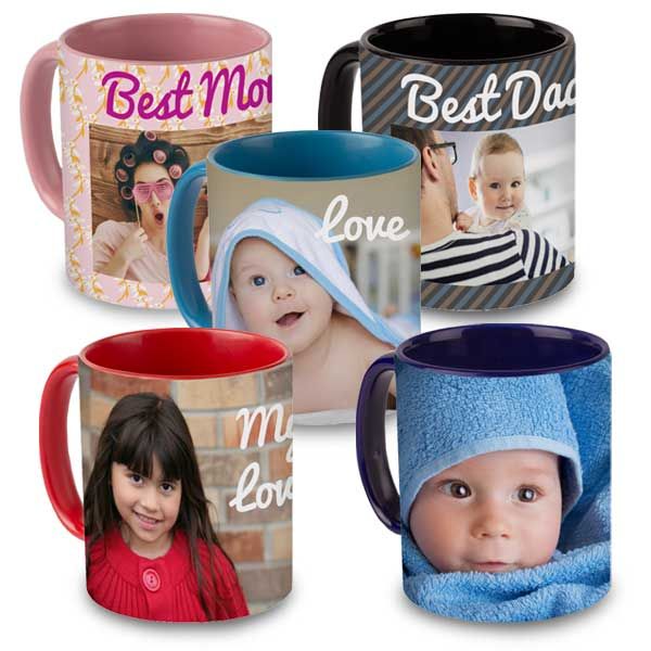 Color accent mugs are vibrant and available in multiple colors for your to personalize
