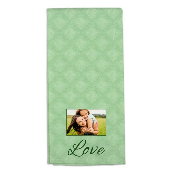 Add color and personality to your home and kitchen with photo personalized tea towels