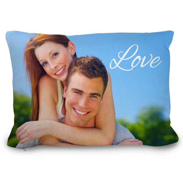 Turn your picture into a pillow and add your own text and bring color and warmth into your home