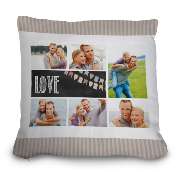 Drop your pictures into a template and create a designer pillow for your couch