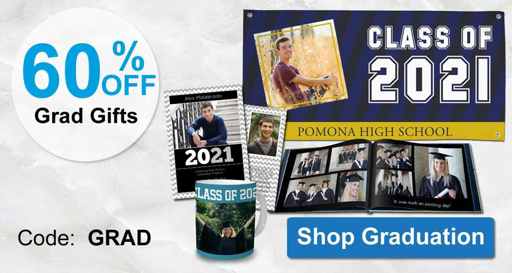 Create custom 2021 products for your graduating senior and personalize for their special day