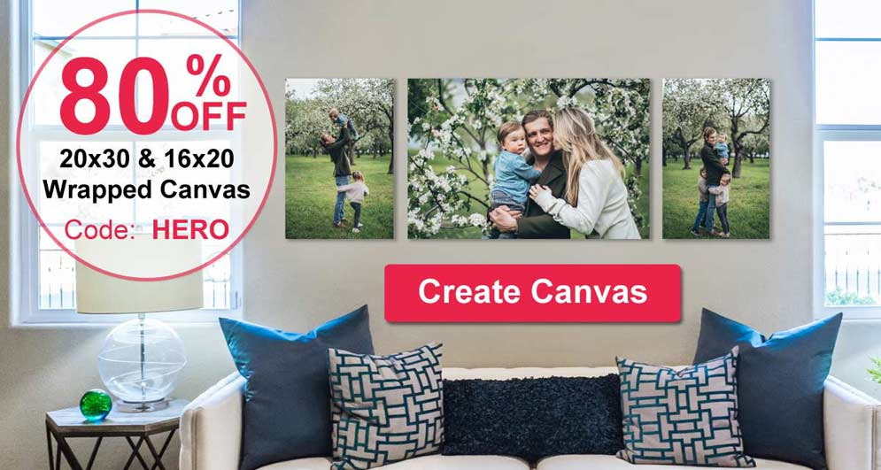 Print your pictures on canvas and display the canvas wall art in your home or office with RitzPix