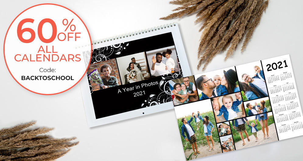 Prepare for back to school with a custom photo calendar of dates