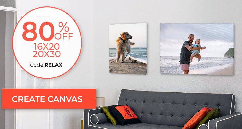 Turn your picture into a work of art and print your photos on canvas up to 80% Off