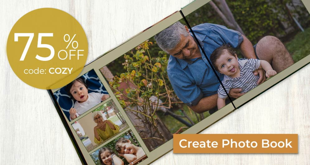Design a photo book filled with memories and special events